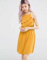 Драпированное платье без рукавов с халтером Only - Harvest gold