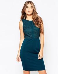 Платье с кружевной вставкой Poppy Lux Senna - Сине-зеленый