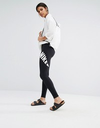 Леггинсы с фирменным принтом в виде галочки Nike Leg A See
