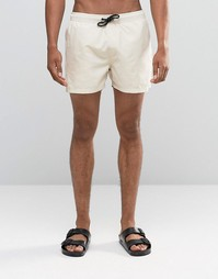 Песочные короткие шорты для плавания ASOS - Stone