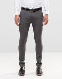 Серые суперзауженные брюки ASOS - Мульти