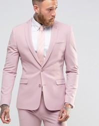 Розовый супероблегающий рюкзак ASOS - Розовый