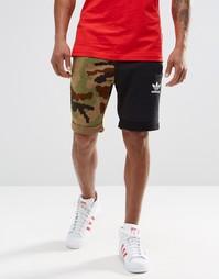 Шорты в стиле колор блок adidas Originals AY9275 - Черный