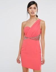 Цельнокройное платье на одно плечо Little Mistress - Оранжевый