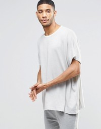 Oversize-футболка в стиле casual ASOS - Серый
