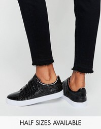 Кроссовки с застежками-велкро ASOS DARKO - Черный крокодил