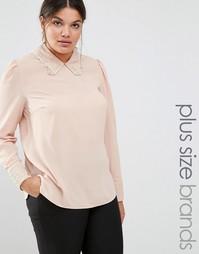 Тканая блузка с отделкой кроше Lovedrobe - Бежевый