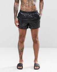 Короткие шорты для плавания с мокрым эффектом и внутренним шнурком ASO Asos