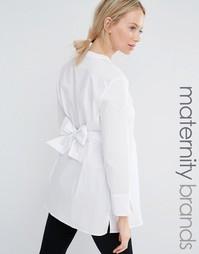 Удлиненная приталенная рубашка Isabella Oliver - Белый