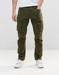 Суженные брюки карго с молниями G-Star Rovic 3D - Dk bronze green