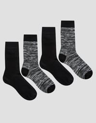 Комплект из 4 пар носков Jack & Jones - Черный