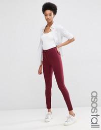 Стретчевые брюки скинни ASOS TALL - Burgundy