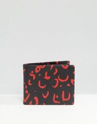 Бумажник с красный животным принтом Smith And Canova - Черный