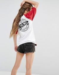 Oversize-футболка с рукавами реглан и принтом Off The Wall Vans