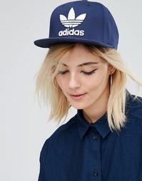 Бейсболка с логотипом-трилистником Adidas Originals - Collegiate navy