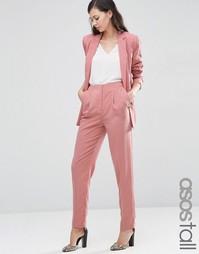 Зауженные брюки ASOS TALL Lux - Розовая роза