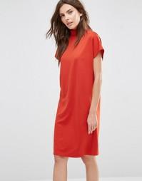 Oversize-платье с высоким воротом Vila - Кетчуп
