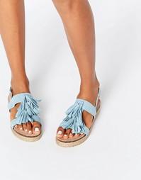 Синие сандалии-эспадрильи с кисточками Lost Ink Nierka