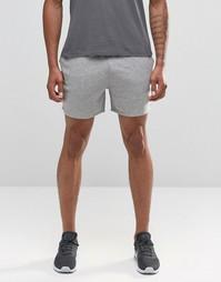 Серые меланжевые трикотажные шорты ASOS - Серый меланж