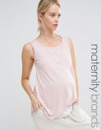 Топ для беременных и кормящих с запахом Bluebelle Maternity - Розовый