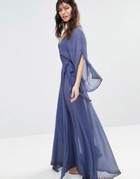 Шифоновое платье макси с рукавами-кимоно The Jetset Diaries Las Perlas