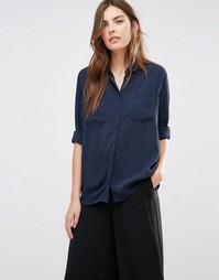 Рубашка с карманом спереди Vila - Полное затмение