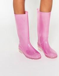 Резиновые сапоги с подсветкой ASOS GLOW - Розовый