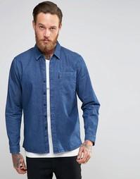 Синяя джинсовая рубашка с карманом Levis Line 8 - Blue flat finish