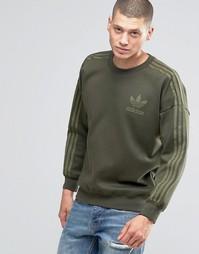 Свитшот с круглым вырезом adidas Originals Adicolour B10718 - Зеленый