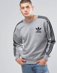 Свитшот с круглым вырезом adidas Originals Adicolour B10716 - Серый