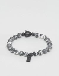 Серый браслет из бусин Icon Brand - Серый