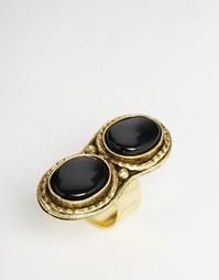 Двойное кольцо с камнями ASOS - Черный