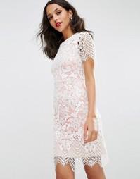 Кружевное платье‑футляр ASOS - Белый