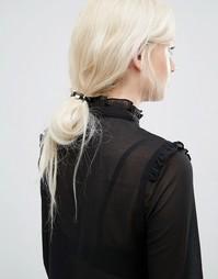 Набор резинок для волос в кожаном стиле Kitsch - Мульти