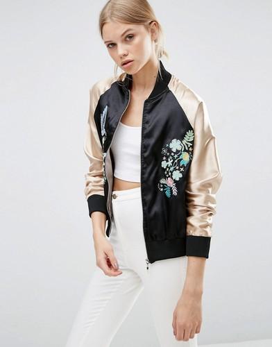 Куртка-пилот с вышивкой Brave Soul