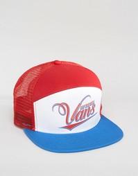 6-панельная бейсболка Vans SUDS VRM1JDN - Красный
