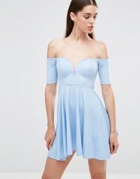 Приталенное платье Twin Sister - Нежно-голубой