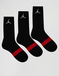 Набор из 3 пар черных носков Nike Jordan SX5241-013 - Черный