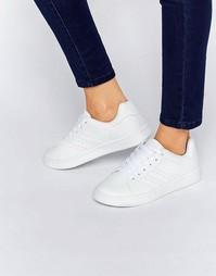 Кроссовки со шнуровкой Truffle Collection - White pu