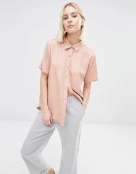 Прямая рубашка ADPT - Телесный