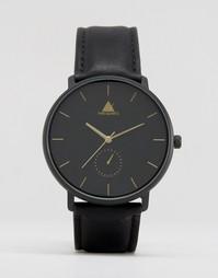 Черные часы с золотистыми стрелками ASOS - Черный