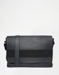 Портфель с эластичным ремешком ASOS - Черный
