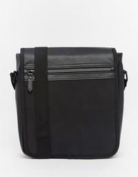 Небольшая сумка с клапаном и молнией ASOS - Черный