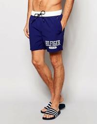 Синие шорты для плавания колор блок Tommy Hilfiger - Синий