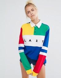 Oversize-рубашка с отделкой в стиле колор блок Lazy Oaf - Мульти