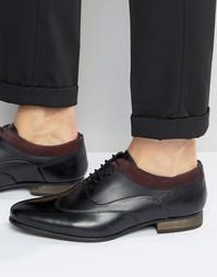 Черные кожаные туфли на шнуровке ASOS - Черный