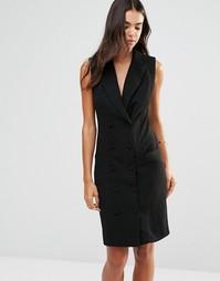 Двубортное приталенное платье Unique 21 - Черный
