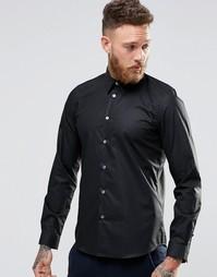 Строгая рубашка слим с контрастной подкладкой манжет Paul Smith