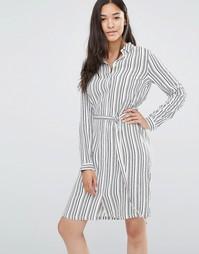 Платье-рубашка в полоску с поясом Soaked in Luxury - Multi striped