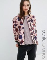 Атласная куртка-пилот с цветочным принтом Glamorous Petite - Мульти